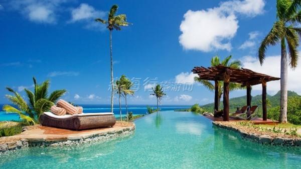 斐济岛蜜月之旅--世界上最纯美的海岛 6天 (2人成团)