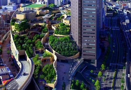 办公楼屋顶花园效果图