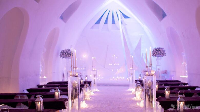 極致浪漫加拿大冰雪酒店Hotel de Glace度假 (2人成團) ¥49000元/人起